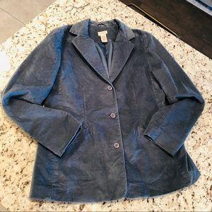 L.L Bean Blazer Coat Soft Blue Suit Jacket